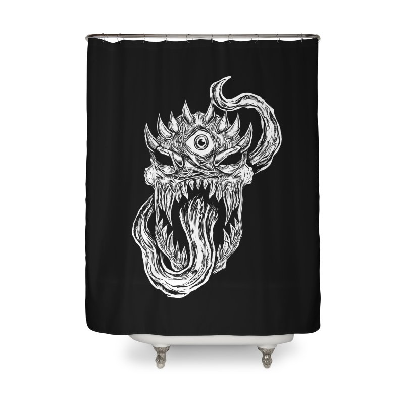 TWITCHING TONGUE Home Shower Curtain by Vertebrae33