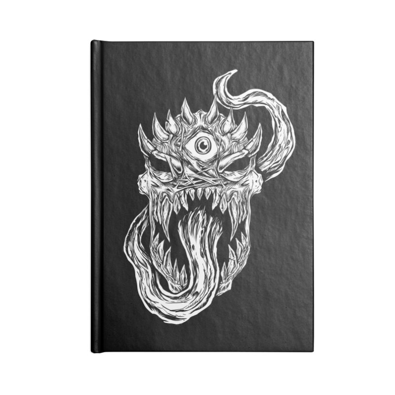 TWITCHING TONGUE Accessories Blank Journal Notebook by Vertebrae33