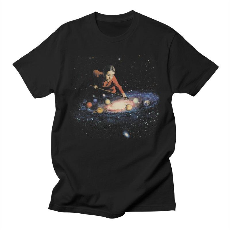 Space Pool Men's T-Shirt by Vertigo Artography's Artist Shop