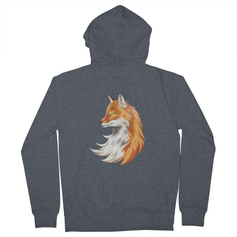 Magic Fox Men's Zip-Up Hoody by vervex's shop