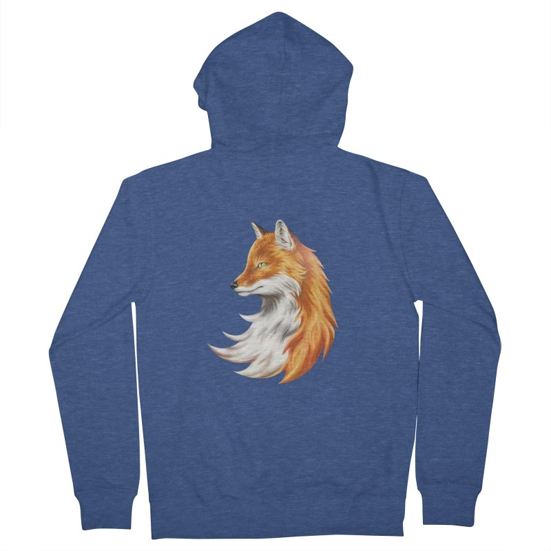 Magic Fox Men's Zip-Up Hoody by vervex's shop
