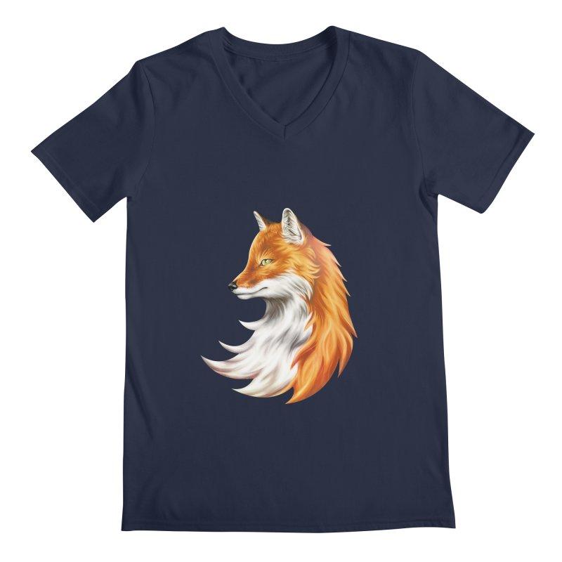 Magic Fox Men's V-Neck by vervex's shop