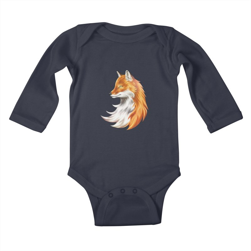 Magic Fox Kids Baby Longsleeve Bodysuit by vervex's shop