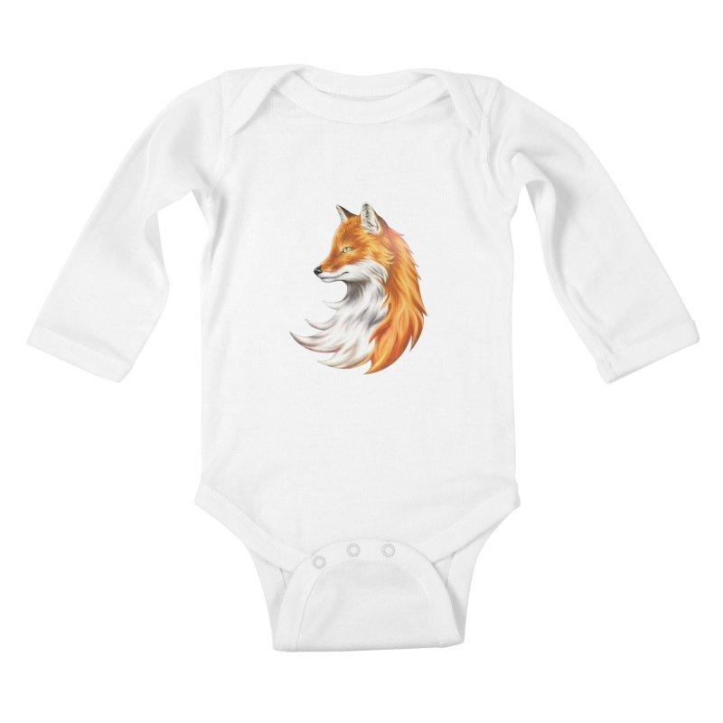 Magic Fox Kids Baby Longsleeve Bodysuit by vervex's shop