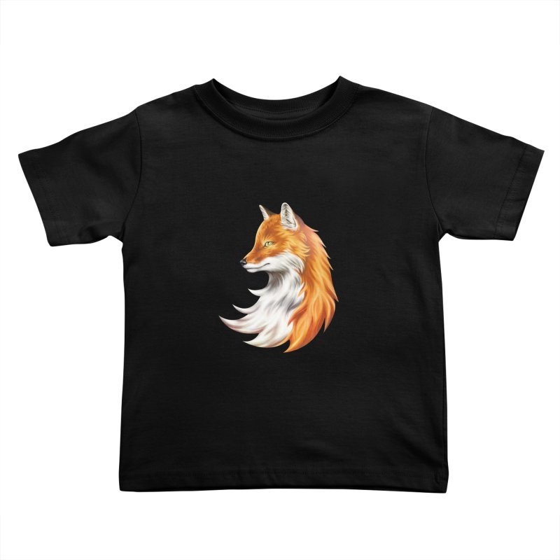 Magic Fox Kids Toddler T-Shirt by vervex's shop