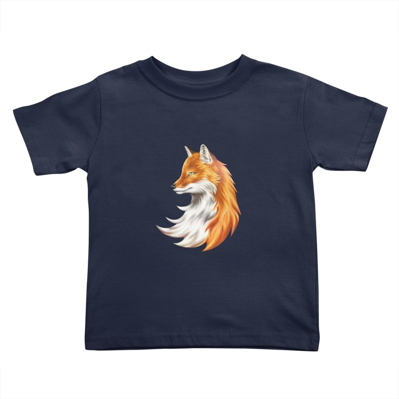 Magic Fox Kids Toddler T-Shirt by vervex's shop