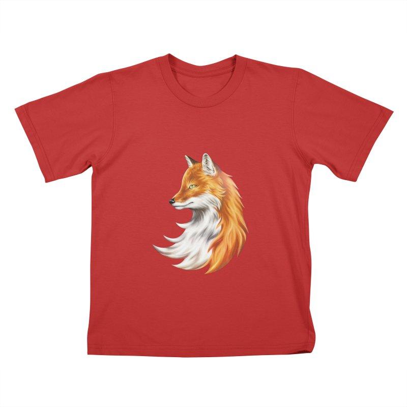 Magic Fox Kids T-Shirt by vervex's shop