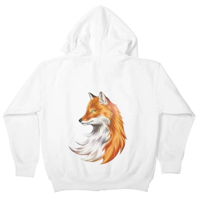 Magic Fox Kids Zip-Up Hoody by vervex's shop