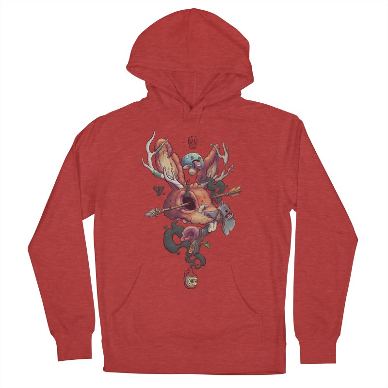 JACKALOPE CHIMERA Women's French Terry Pullover Hoody by VET Shop