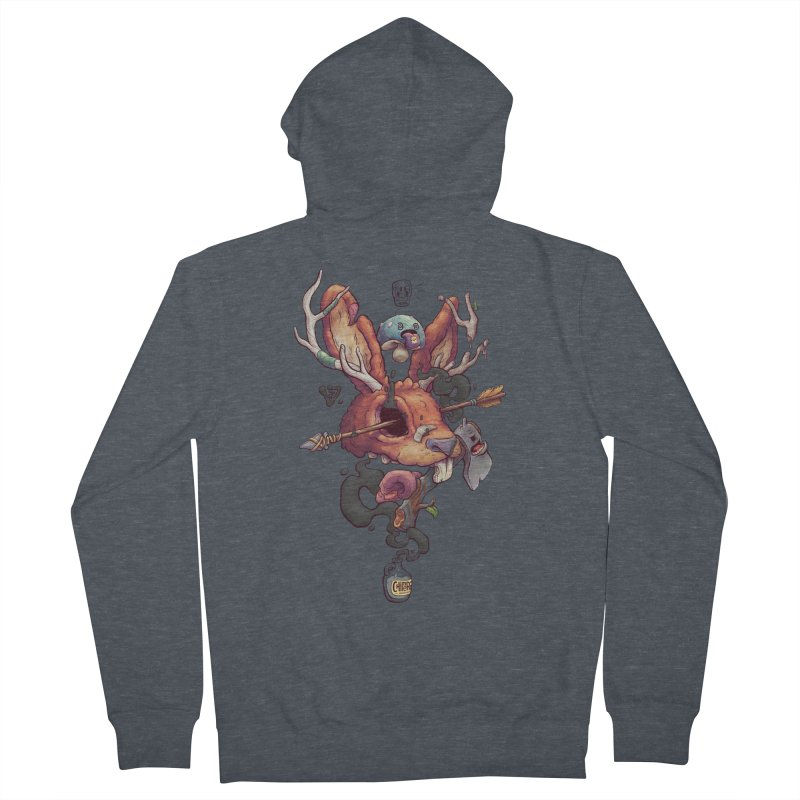JACKALOPE CHIMERA Men's Zip-Up Hoody by VET Shop