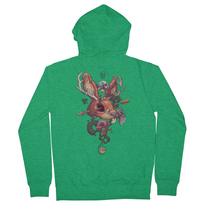 JACKALOPE CHIMERA Men's French Terry Zip-Up Hoody by VET Shop