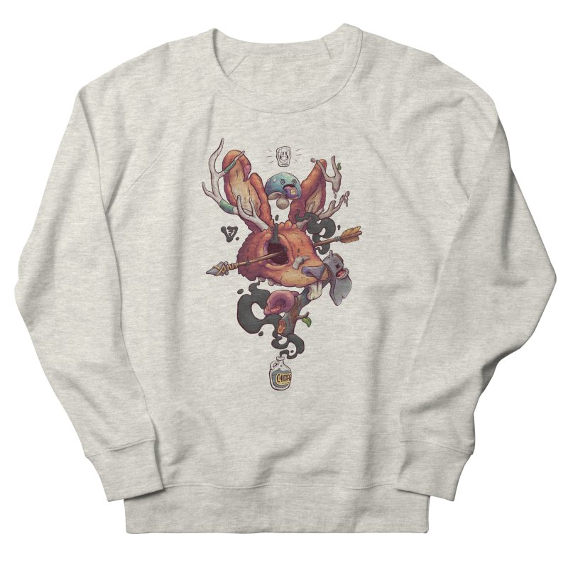 JACKALOPE CHIMERA Men's French Terry Sweatshirt by VET Shop