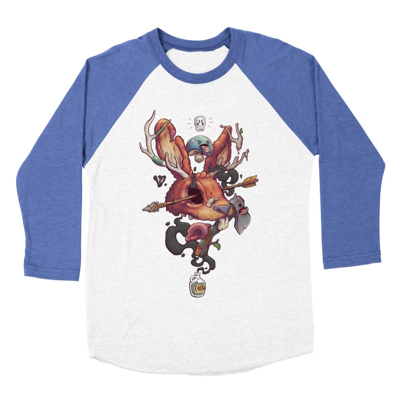 JACKALOPE CHIMERA Women's Baseball Triblend Longsleeve T-Shirt by VET Shop