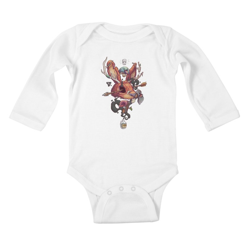 JACKALOPE CHIMERA Kids Baby Longsleeve Bodysuit by VET Shop