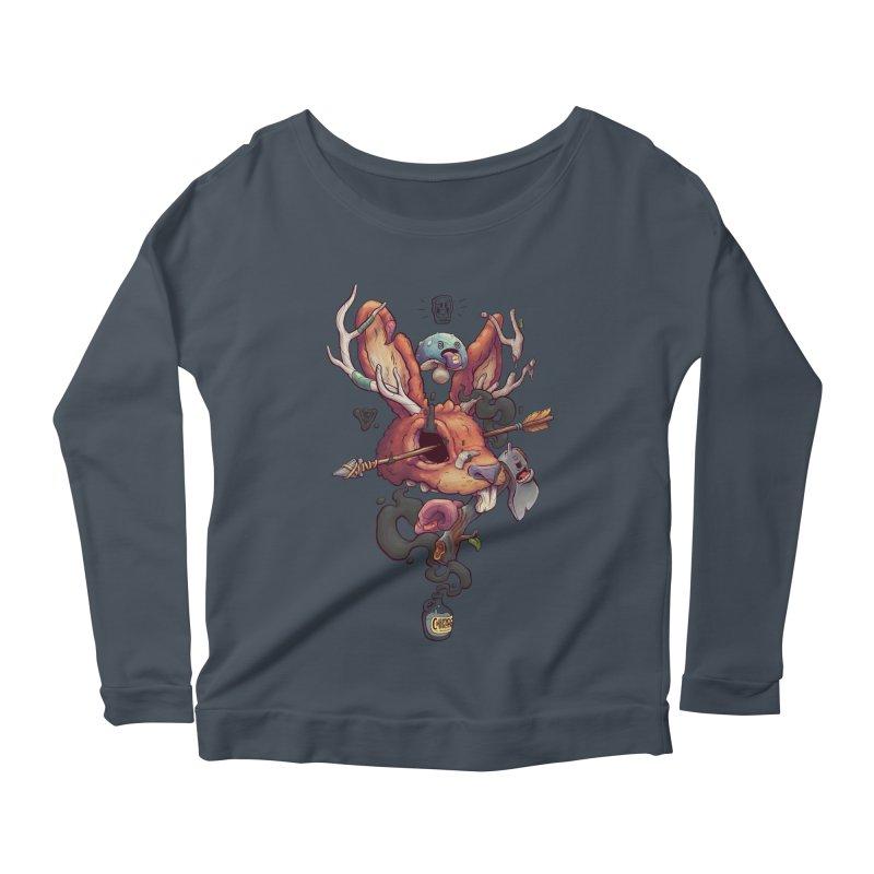JACKALOPE CHIMERA Women's Scoop Neck Longsleeve T-Shirt by VET Shop