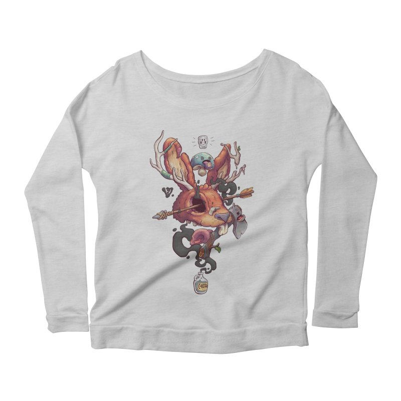 JACKALOPE CHIMERA Women's Scoop Neck Longsleeve T-Shirt by VET Shop