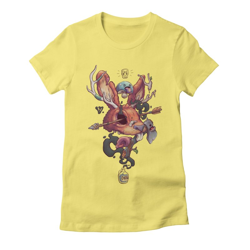 JACKALOPE CHIMERA Women's Fitted T-Shirt by VET Shop