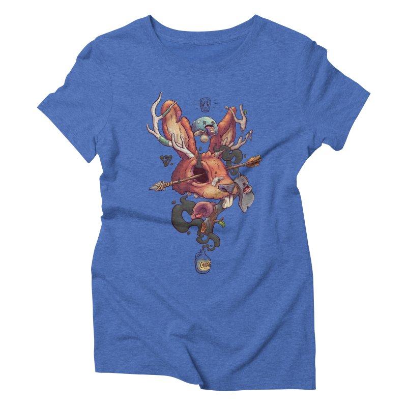 JACKALOPE CHIMERA Women's Triblend T-Shirt by VET Shop