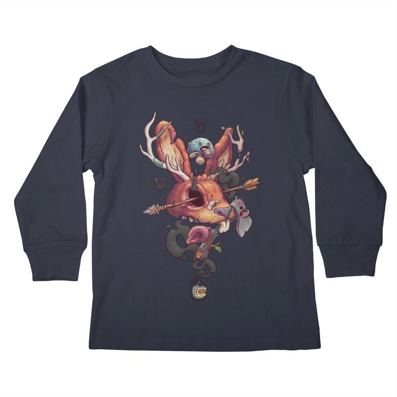 JACKALOPE CHIMERA Kids Longsleeve T-Shirt by VET Shop