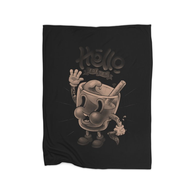 Hello Friday Home Fleece Blanket Blanket by VET Shop