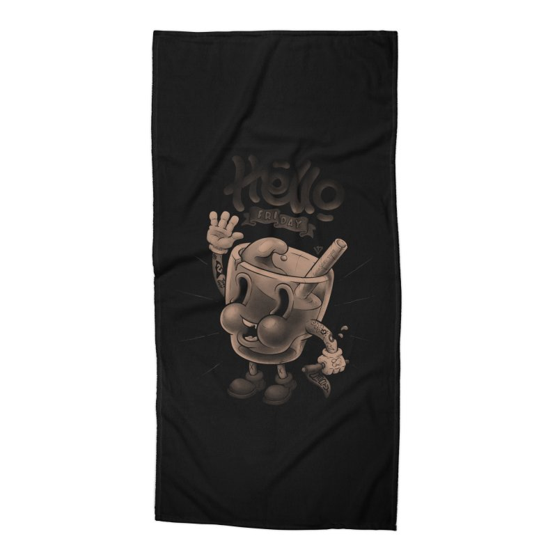 Hello Friday Accessories Beach Towel by VET Shop