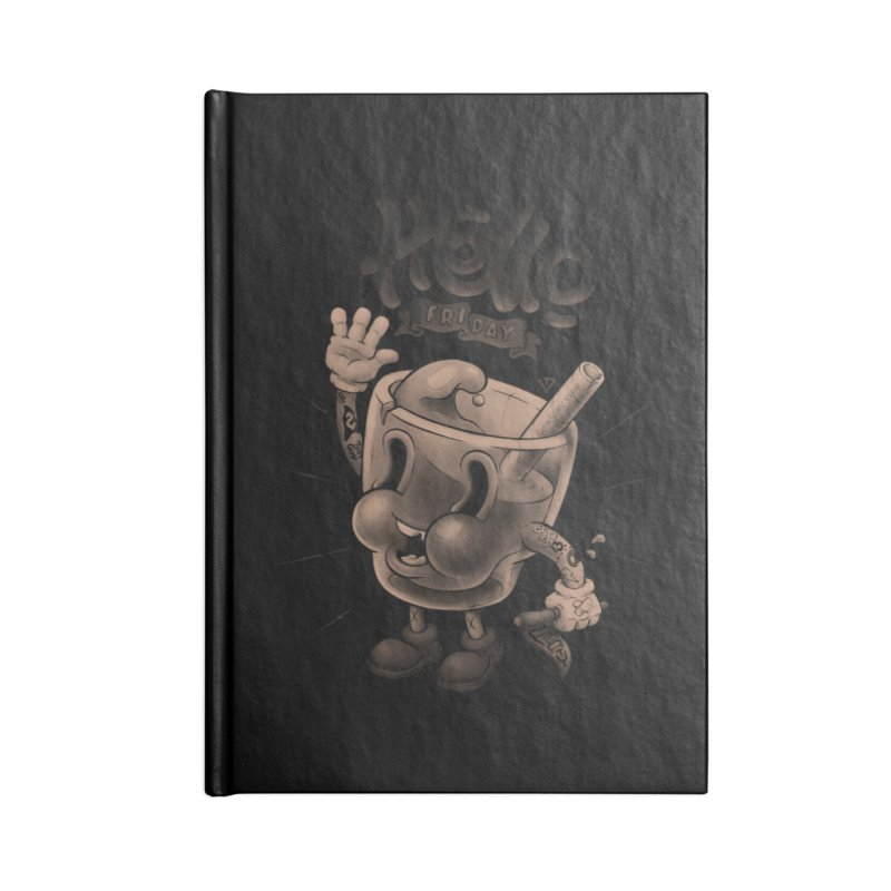 Hello Friday Accessories Lined Journal Notebook by VET Shop