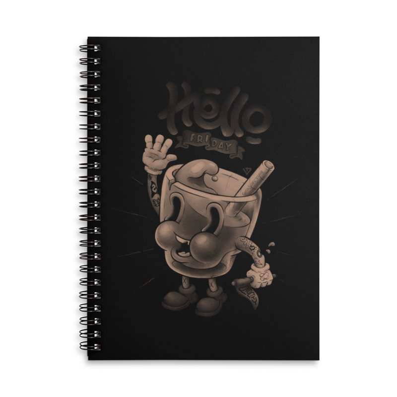 Hello Friday Accessories Lined Spiral Notebook by VET Shop