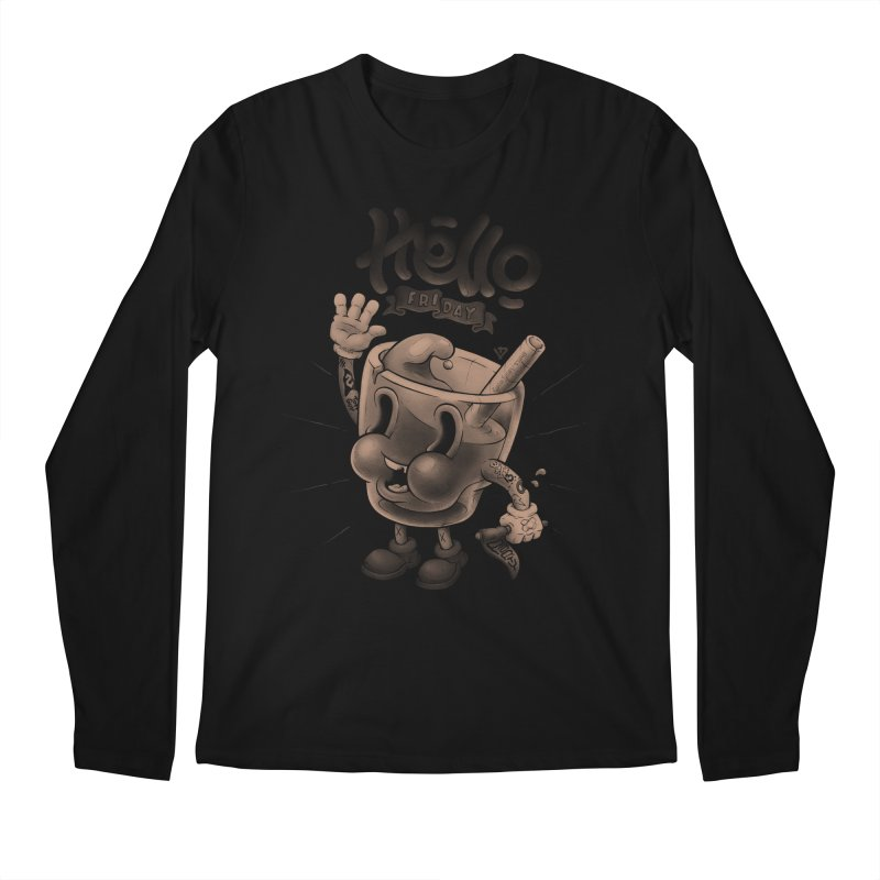 Hello Friday Men's Regular Longsleeve T-Shirt by VET Shop