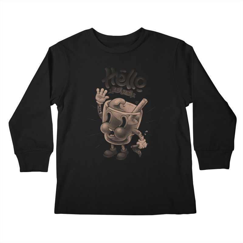 Hello Friday Kids Longsleeve T-Shirt by VET Shop