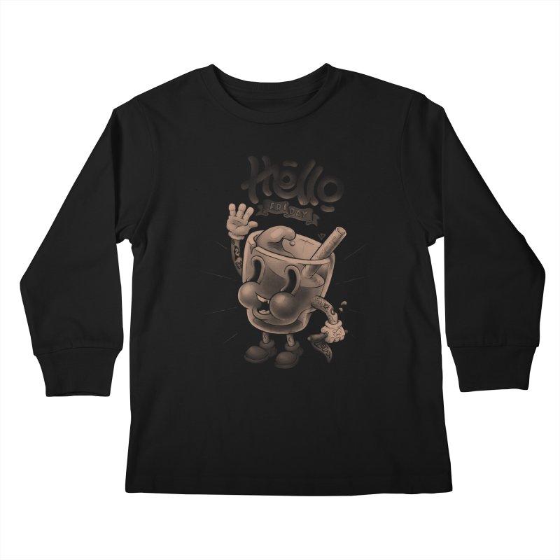 Hello Friday Kids Longsleeve T-Shirt by VET Shop