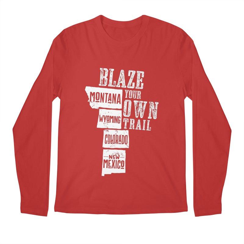 Blaze Your Own Trail Men's Regular Longsleeve T-Shirt by Vet Design's Shop