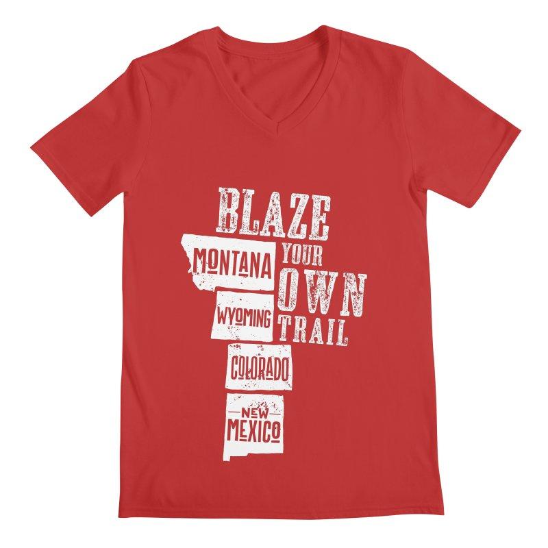 Blaze Your Own Trail Men's Regular V-Neck by Vet Design's Shop