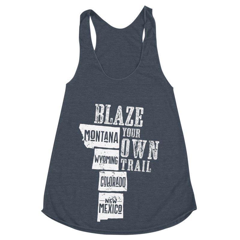 Blaze Your Own Trail Women's Racerback Triblend Tank by Vet Design's Shop