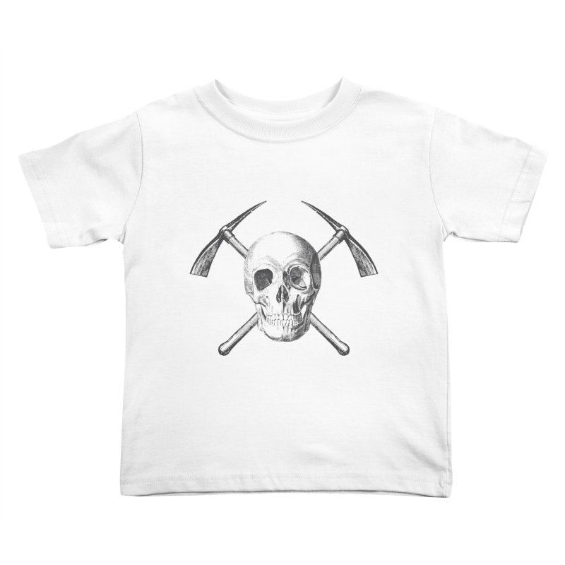 Skull and Cross-picks Kids Toddler T-Shirt by Vet Design's Shop