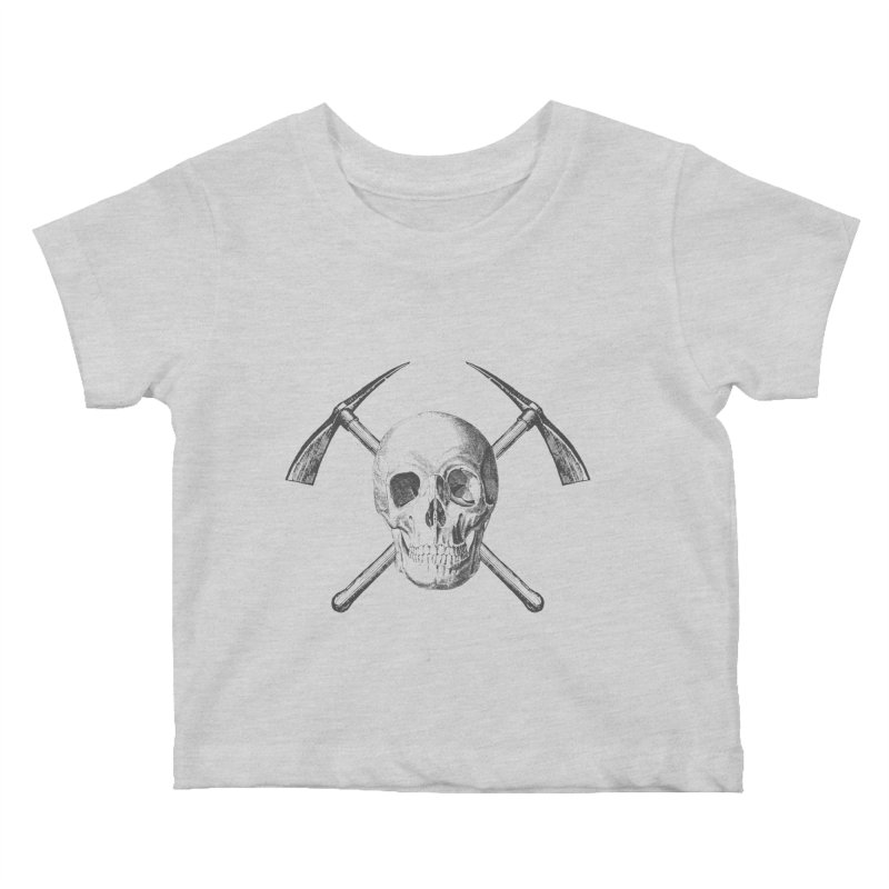 Skull and Cross-picks Kids Baby T-Shirt by Vet Design's Shop