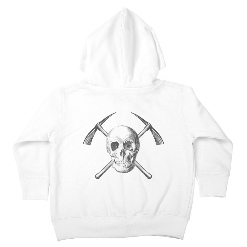 Skull and Cross-picks Kids Toddler Zip-Up Hoody by Vet Design's Shop