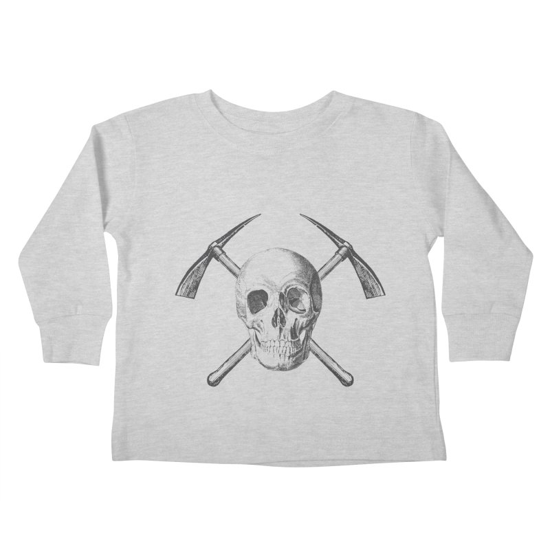 Skull and Cross-picks Kids Toddler Longsleeve T-Shirt by Vet Design's Shop