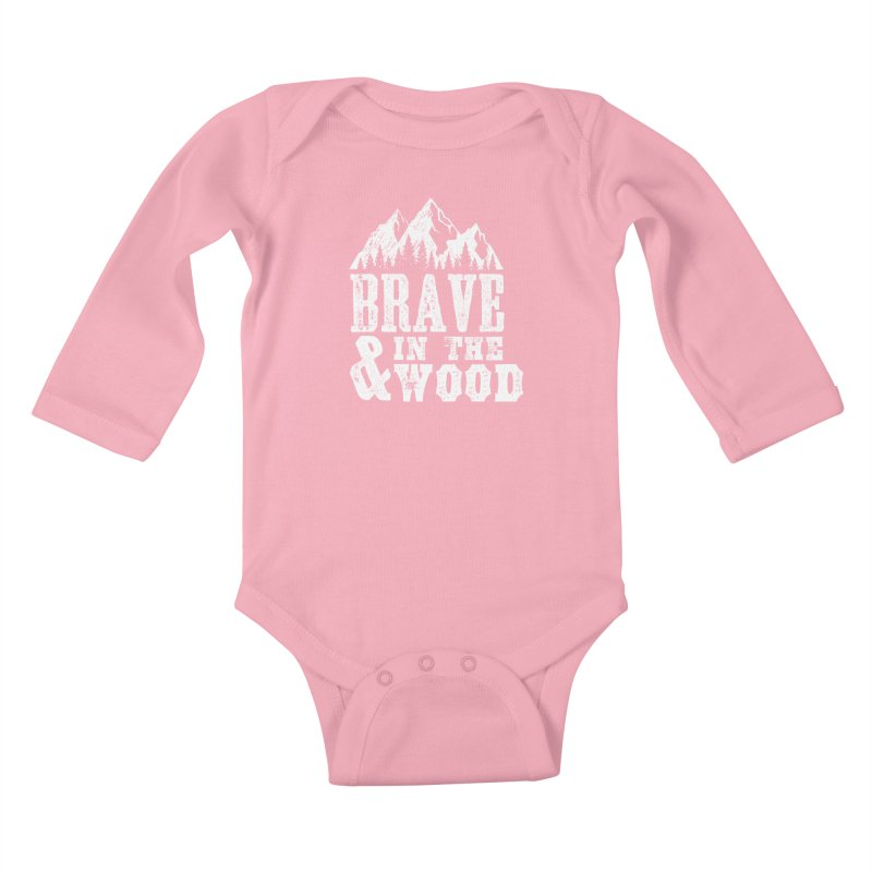 Brave and in the Wood Kids Baby Longsleeve Bodysuit by Vet Design's Shop