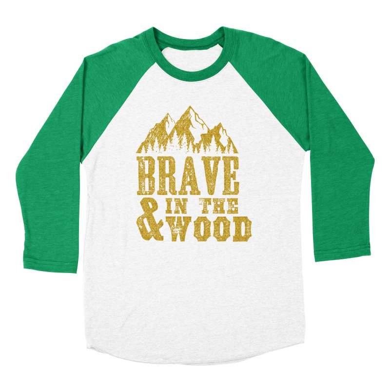 Brave and in the Wood - Gold Men's Longsleeve T-Shirt by Vet Design's Shop