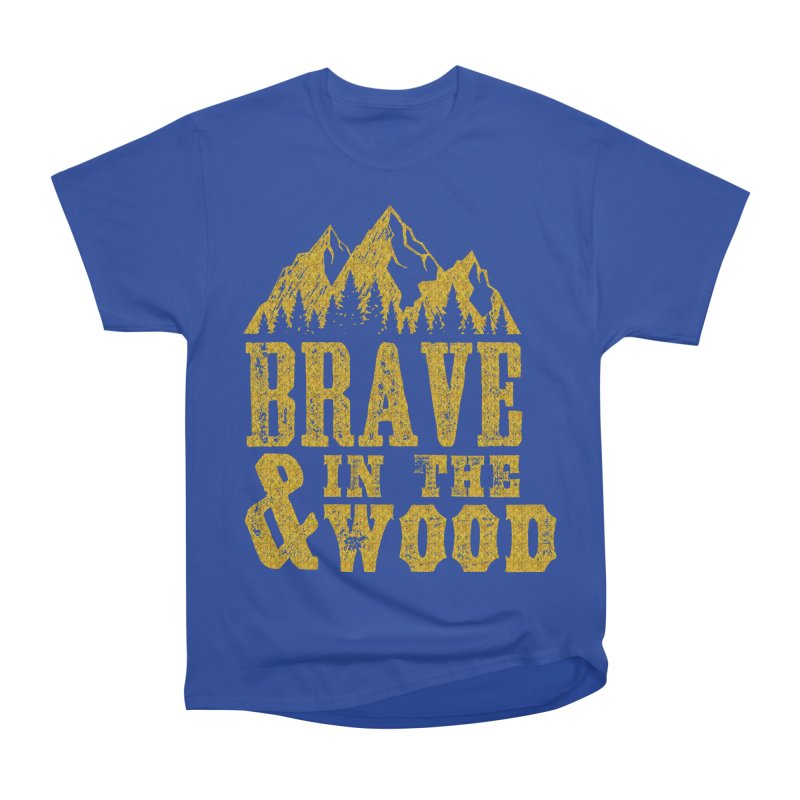Brave and in the Wood - Gold Men's Heavyweight T-Shirt by Vet Design's Shop