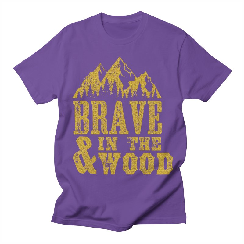 Brave and in the Wood - Gold Men's Regular T-Shirt by Vet Design's Shop