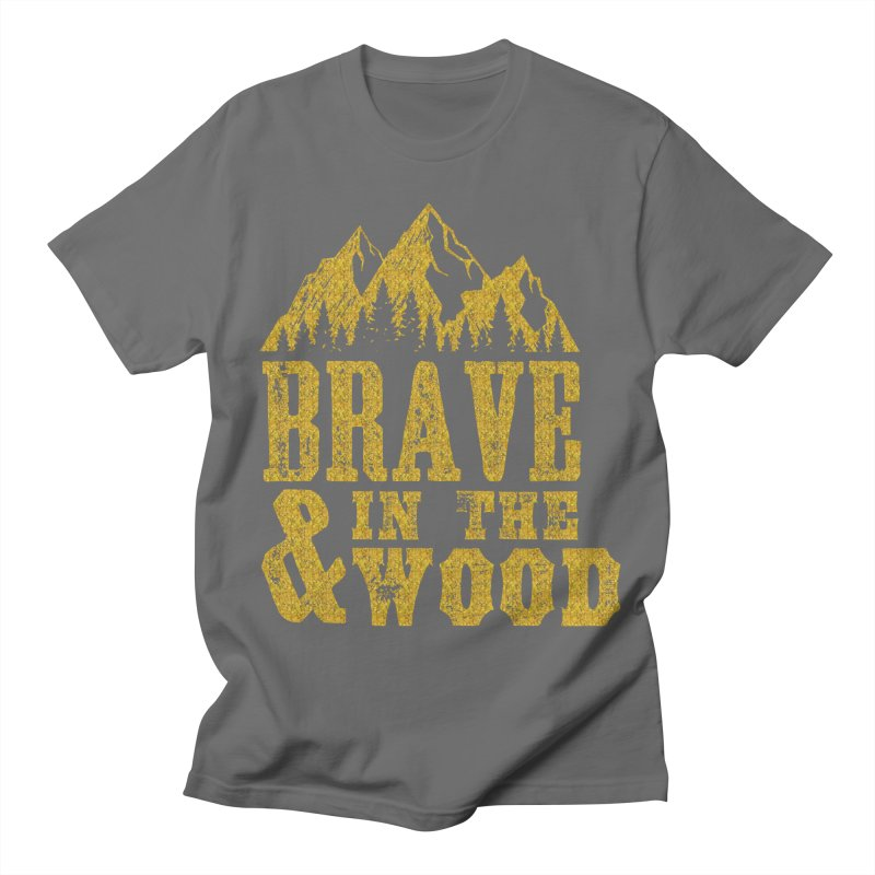 Brave and in the Wood - Gold Men's T-Shirt by Vet Design's Shop