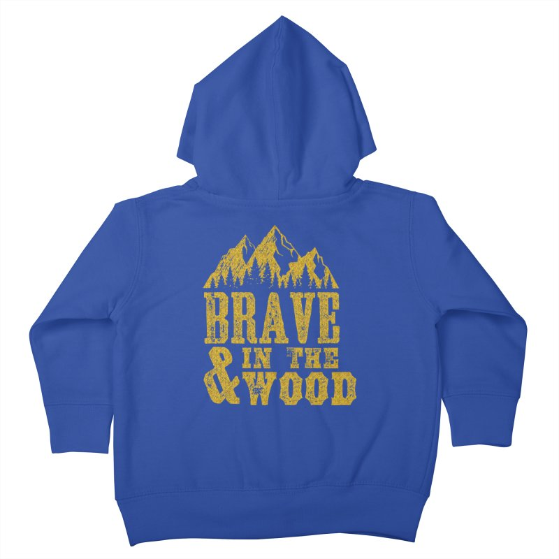 Brave and in the Wood - Gold Kids Toddler Zip-Up Hoody by Vet Design's Shop