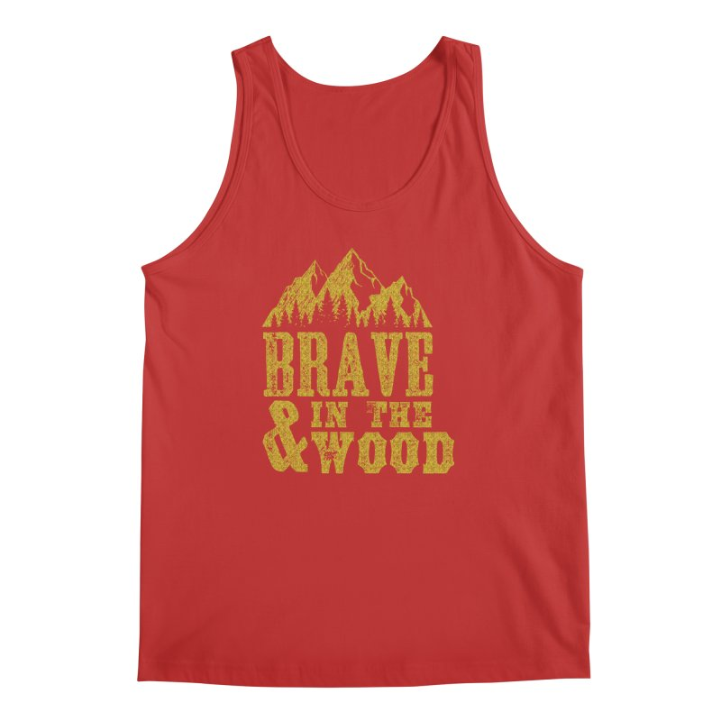 Brave and in the Wood - Gold Men's Regular Tank by Vet Design's Shop