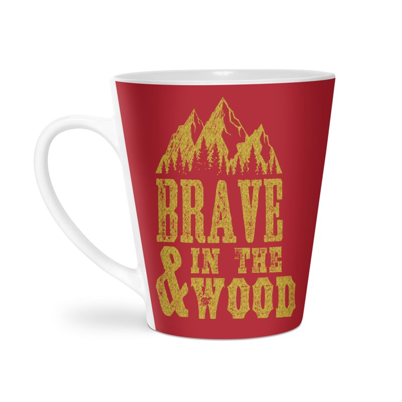 Brave and in the Wood - Gold Accessories Latte Mug by Vet Design's Shop