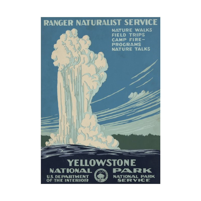 Yellowstone National Park, Ranger Naturalist Service by Vet Design's Shop