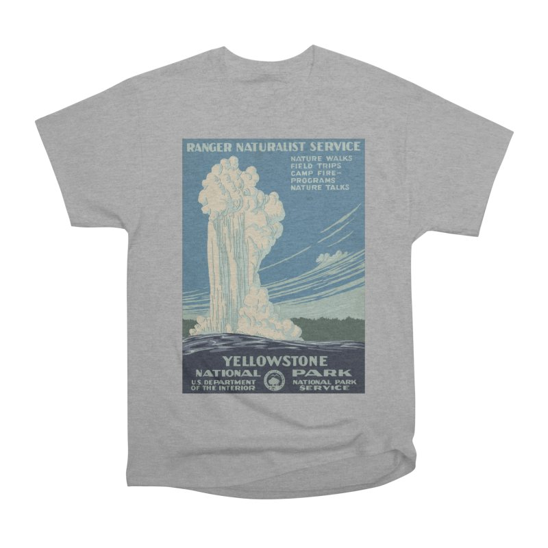 Yellowstone National Park, Ranger Naturalist Service Men's Heavyweight T-Shirt by Vet Design's Shop