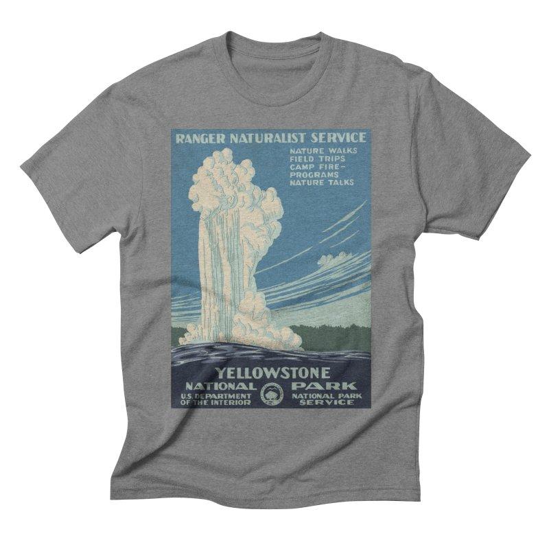 Yellowstone National Park, Ranger Naturalist Service Men's Triblend T-Shirt by Vet Design's Shop