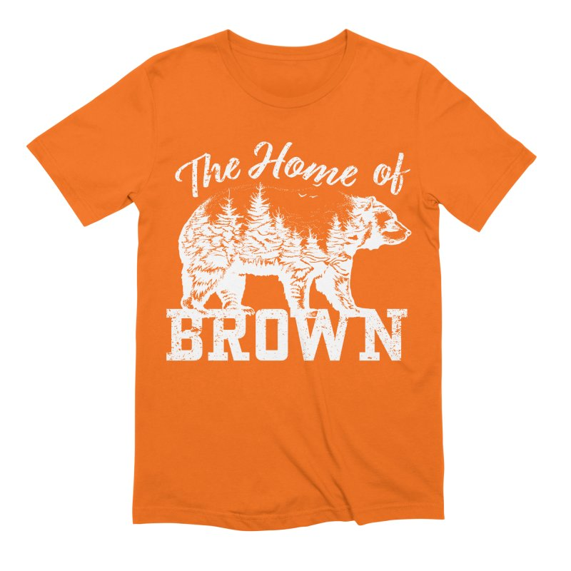 The Home of Brown Men's Extra Soft T-Shirt by Vet Design's Shop