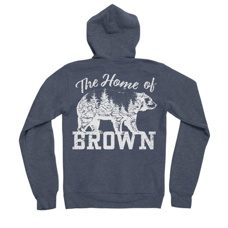 The Home of Brown Women's Sponge Fleece Zip-Up Hoody by Vet Design's Shop